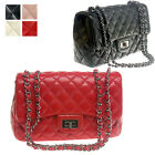 WOMEN'S HANDBAG CELEBRITY JUMBO FLAP CHAIN QUILTED SHOULDER BAG LAMBSKIN LEATHER