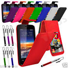 8 Colours Leather Flip Mobile Phone Case Cover For Vodafone Smart 4 Mini