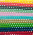 8mm Jelly Style Glass Beads Strands Jewellery Making 10 Colours 100pcs/strand