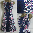 NEW EX PER UNA M&S FIT & FLARE PROM DRESS BLUE WHITE WEDDING PARTY SIZE 8 - 20