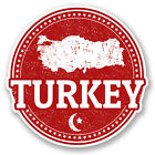 2 x Turkey Vinyl Sticker Luggage Travel iPad Laptop Helmet Gift Map Flag #5561