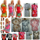 floral batwing maxi mini dress top blouse holiday cocktail sz8-16 plus size belt