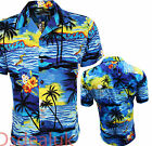 MENS HAWAIIAN SHIRT ALOHA HAWAII STAG PALM TREE HOLIDAY BEACH POOL PARTY S-6xl