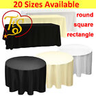 1 5 10 WHITE BLACK IVORY Polyester Tablecloth TABLE CLOTH COVER Wedding Party