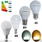 6 12x E14 E27 B22 B15 5W SMD LED Globe Bulbs Golf Ball Warm Day Light Spotlight
