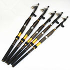 Fight Carbon Telescopic Fishing Rods Spinning Pole Saltwater Casting Sea Rod