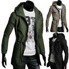 UK Seller Military Mens Jacket Slim Fit Coat Hoodies Hooded Designer Outerwear