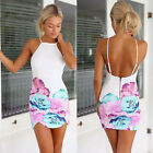Sexy Occident Women Slim Fit Pin up Backless Hips-Wrapped PROM PARTY Mini Dress