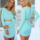 4Sizes Women long Sleeve Bandage Clubwear Bodycon Cocktail Party Evening Dress