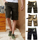 New Men's Casual Trousers Army Cargo Shorts Working Short Pants Pants PLUS 30-44