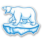2 x Polar Bear Vinyl Decal Sticker iPad Laptop Car Bike Tablet Kindle Ice #5624