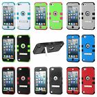 For iPod Touch 5th & 6th Gen - HYBRID 2-in-1 HARD PC & SOFT SILICONE SKIN CASE