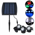 Solar Powered Waterproof Under Water 3x6LEDs Spotlight Spot Light RGB White Blue