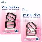 Vest Waist Coat Buckles - Gun Metal Black or Nickel Silver 20mm Hemline H463.G