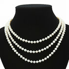 s250  NEW AA4-5mm 5-6mm white round oval pearl necklace pendants