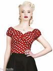 Collectif Polka Dot Dolores Red Pin Up Rock Vintage Retro 50s Style Top 12- 20