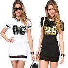 Fashion Women's Summer Short Sleeve Casual Club Short Mini Tee Shirt Dress XS M