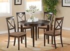 Boston 5 Pieces small kitchen table set-round Table and 4 Dining Chairs