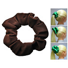 Brown Soft & Silky Scrunchie Ponytail Holder Hair Accessories  50+Colors