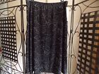 NWT RENA ROWAN BLACK POLKA DOT LEAVES  LADIES SKIRT  PS-L-PXL-XL