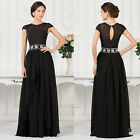 Long Chiffon Wedding Bridesmaid Vintage 50s Mother Evening Party Long Prom Dress