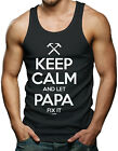 Keep Calm And Let Papa Fix It - Father's Day Men's Tank Top T-shirt