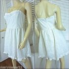 NWT-$69 CITY TRIANGLES IVORY SUN DRESS JR 7/11/13 PADDED BODICE FULL SKIRT
