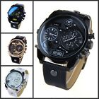 Mens Watches Luxury Original Quartz Dial Synthetic Leather Band  Wrist watch