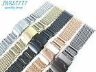 24MM STAINLESS STEEL SHARK MESH BRACELET Watch Ø1.2mm multicolored New Wristband