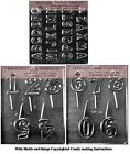Alphabet (A-Z) Numbers and Letters Chocolate Candy Mold