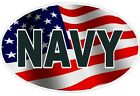 U.S. Navy Flag Oval Wall Window Vinyl Decal Sticker US Military