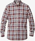 ~NEW~MENS QUIKSILVER biscay PLAID LONG SLEEVE BUTTON UP SHIRT SASSAFRAS