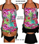 Island Escape Tropical Tankini & Hipster or Skirt Bottom Slimming Size 10  NWT