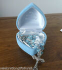 My First Rosary in Heart Gift Box - Boy or Girl - Newborn Baby or Christening