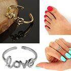 Women Personality Stylish Retro Silver Gold Love Toe Ring Foot Beach Jewelry New