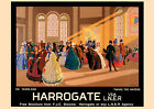 Harrogate, Yorkshire -  repro vintage railway travel poster in 4 sizes