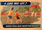 Road Safety - A long way off -  repro vintage poster in 4 sizes