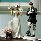 His Biggest Fan Bride or Soccer Hockey Groom Wedding Caketop can be Customized