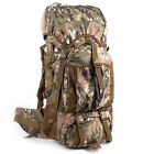 60L Waterproof Internal Frame Camo Backpack Hunting Camping Hiking