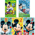 Disney Mickey Mouse Birthday Greeting Card 1 2 3 Grandson Son Cartoon
