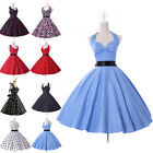 Vintage Style Retro 1950s Rockabilly Swing Jive Ball gown Pinup Short Tea Dress
