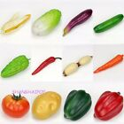5 X Fake Vegetable Artificial Pepper Tamato Cucumber Realistic Decor Props Store