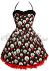 Hell Bunny Perry HALLOWEEN Gore~EyeBaLL~Party Dress GOTH 6-22