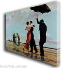 BANKSY OIL BEACH DANCE PAINTING CANVAS WALL ART BOX PRINT PICTURE MEDIUM/LARGE