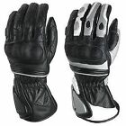 NEW LEATHER MOTORBIKE MOTORCYCLE GLOVES W2B - ALL SIZES