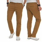 A. Salvarini Herren Designer Chino Stoff Hose Chinohose Regular Fit NEU AS016