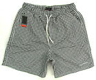 "PIERRE CARDIN ""Swimwear"" mens surf board shorts swim trunks (black/white) NEW"