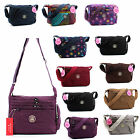 Ladies Lightweight Multiple Pocket Medium Messenger Bag Cross Body Satchel