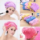 Quick Dry Hair Hat Microfiber Hair Turban Cap Wrapped Towel Bath Spa Hair Care