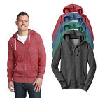 New District Young Mens Marled Fleece Full-Zip Hoodie Size XS - 4X